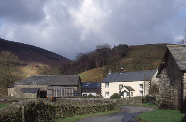 The Trough road as it passes through Sykes - geograph.org.uk - 967157