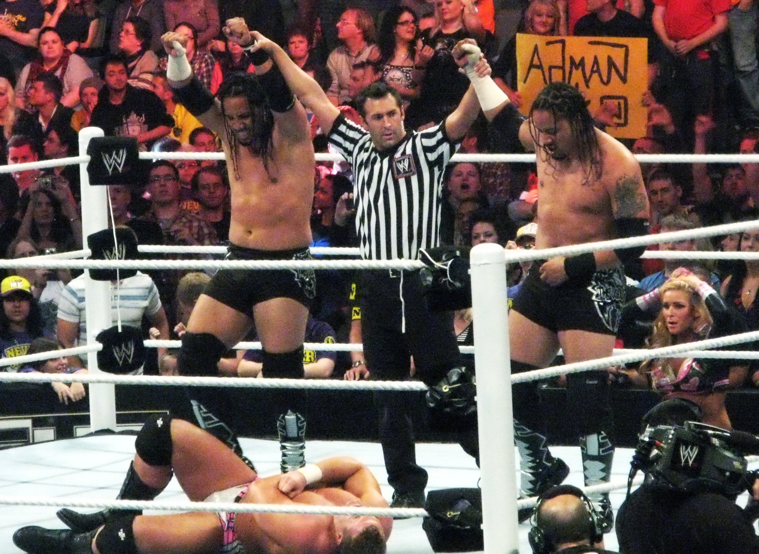 Wwe Layla And Jey Uso The usos after defeating the