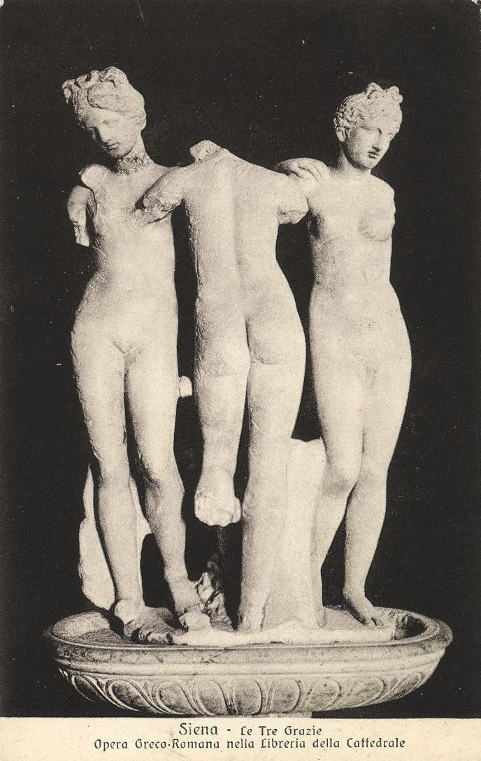 Les Trois Grâces, oeuvre gréco-romaine, cathédrale, Sienne