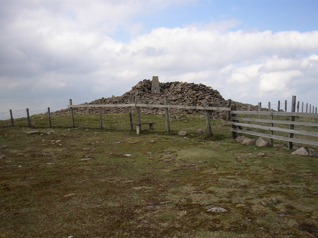 Trig point on the summit of Hedgehope Hill - geograph.org.uk - 414138