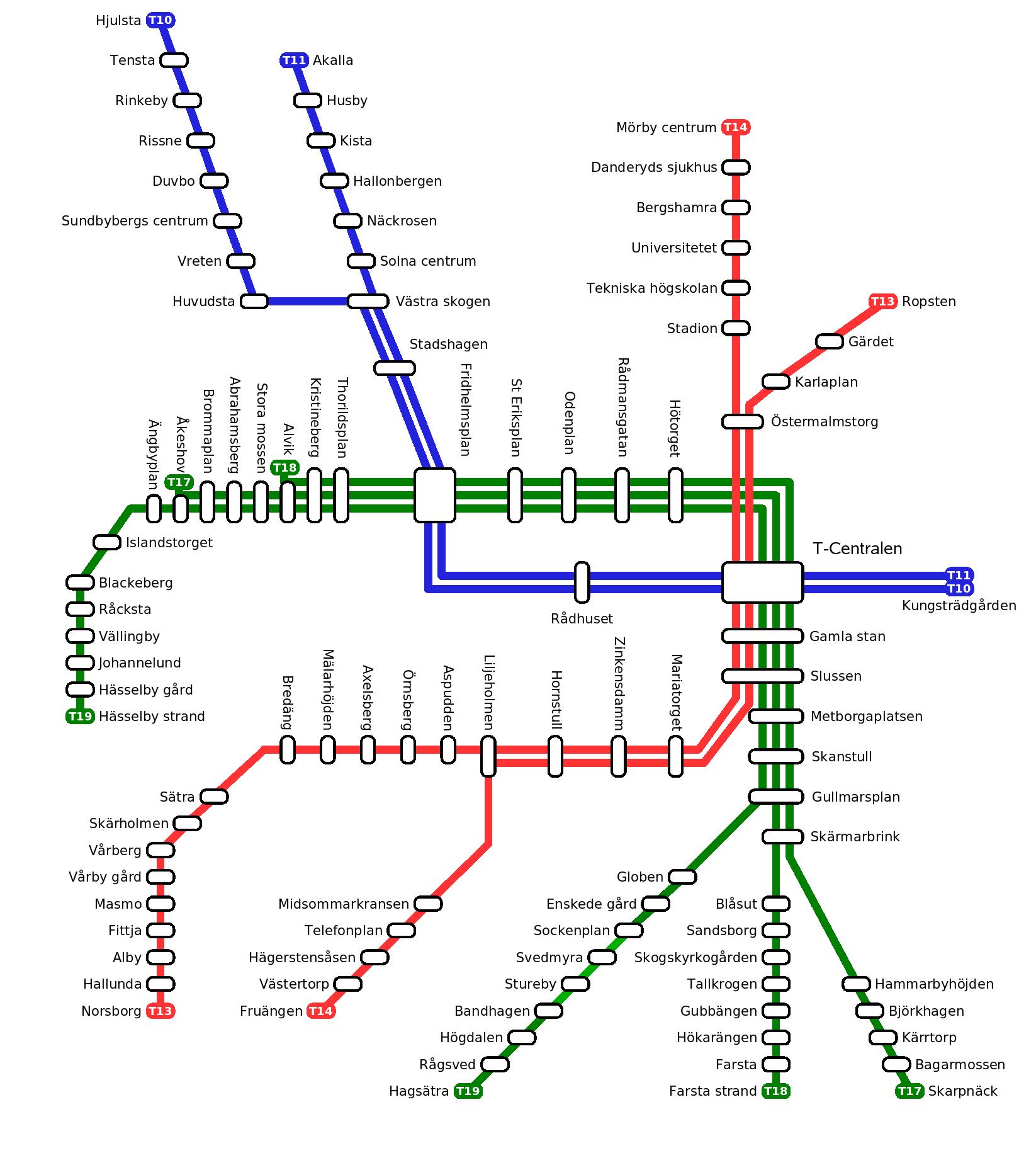 Jattebrak i tunnelbanan i vallingby