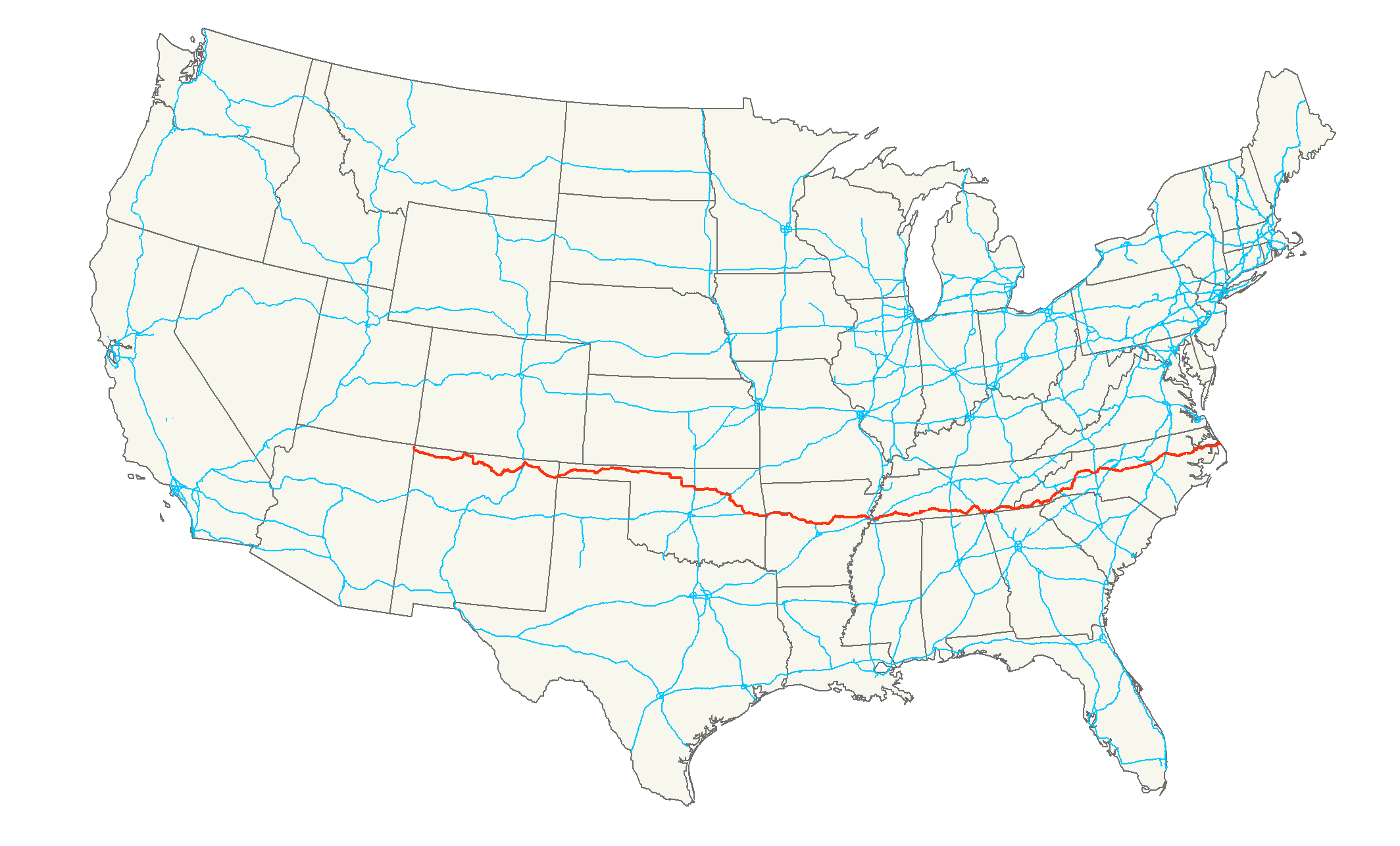 Map Of Us 64 U.S. Route 64   Wikipedia