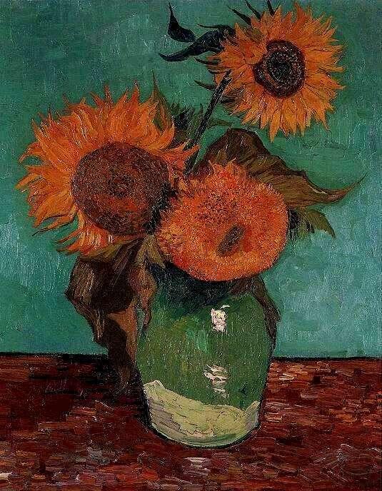 File:Van Gogh Vase with Three Sunflowers.jpg - Wikimedia Commons on