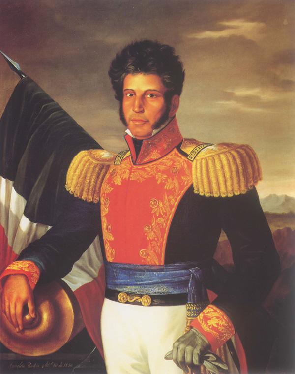 Depiction of Vicente Guerrero