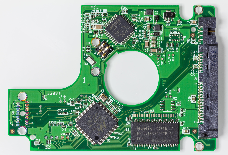 Filewd Scorpio Blue 160 Gb Wd1600bevt 22zct0 Printed Circuit Circuitboard Board
