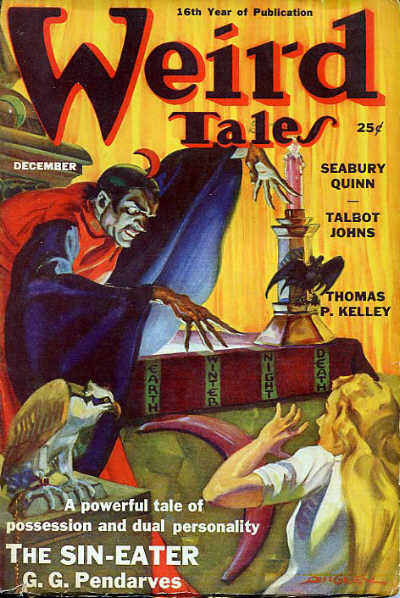 An image of Weird Tales, featuring a story about a sin-eater.
