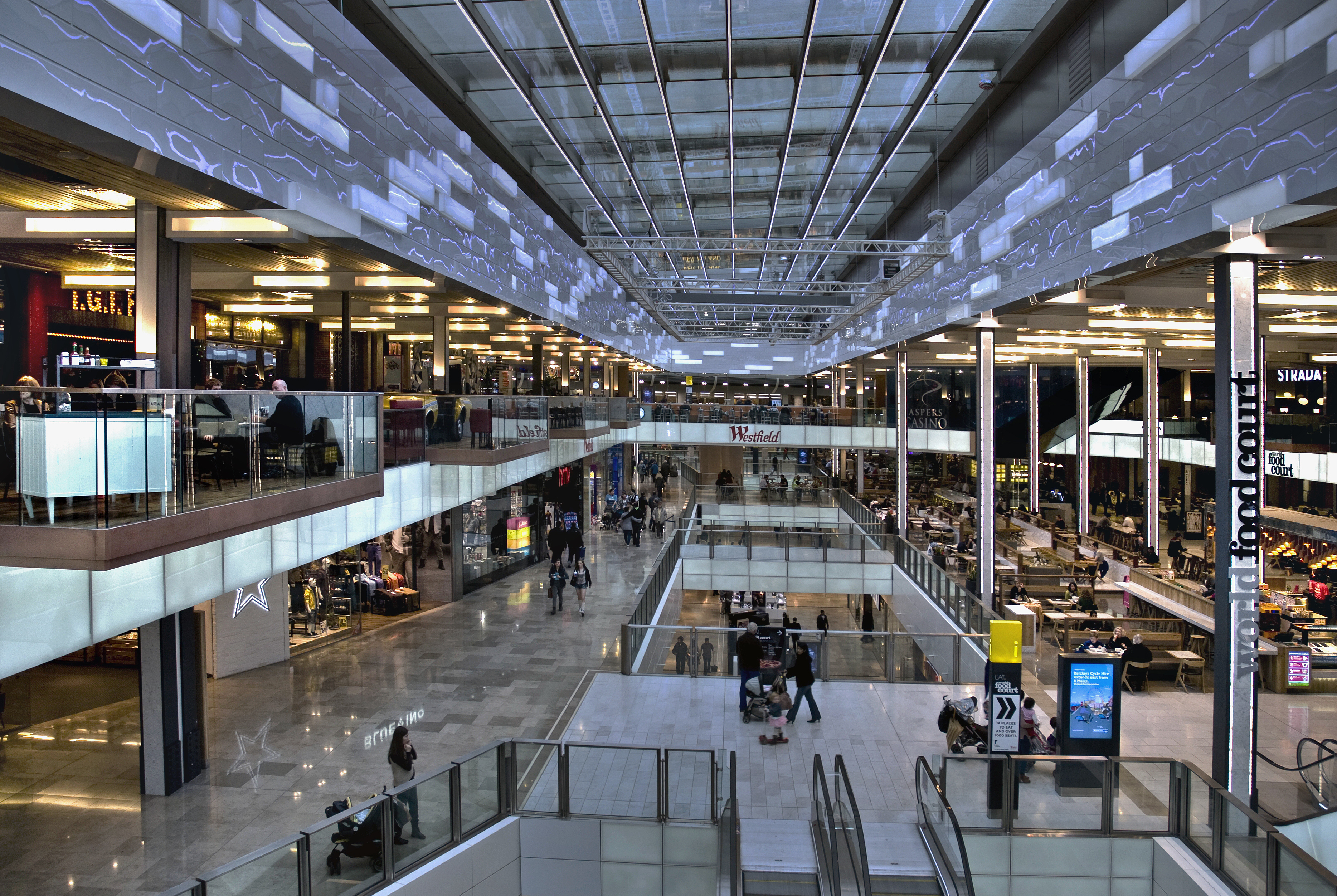 Westfield London is a pioneering shopping and leisure destination to shop, to eat, and to meet. Find M&S, Topshop, Zara, House of Fraser, Waitrose and over luxury, premium and high street retailers from more than 15 different countries within the architecturally stunning centre.