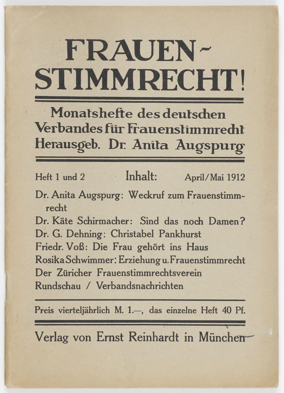 Zeitschrift für Frauenstimmrecht