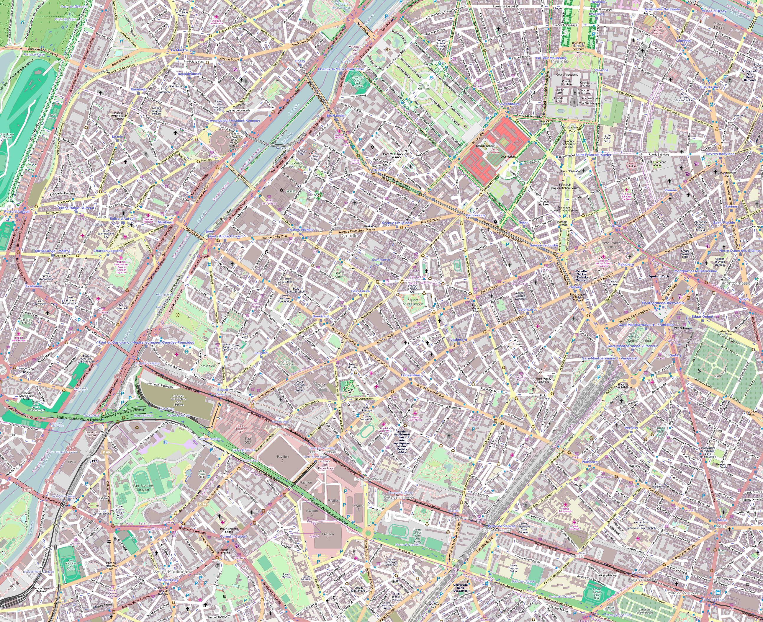 Maps Update 14001035 Street Map of Paris Arrondissements Map – Streetmap France