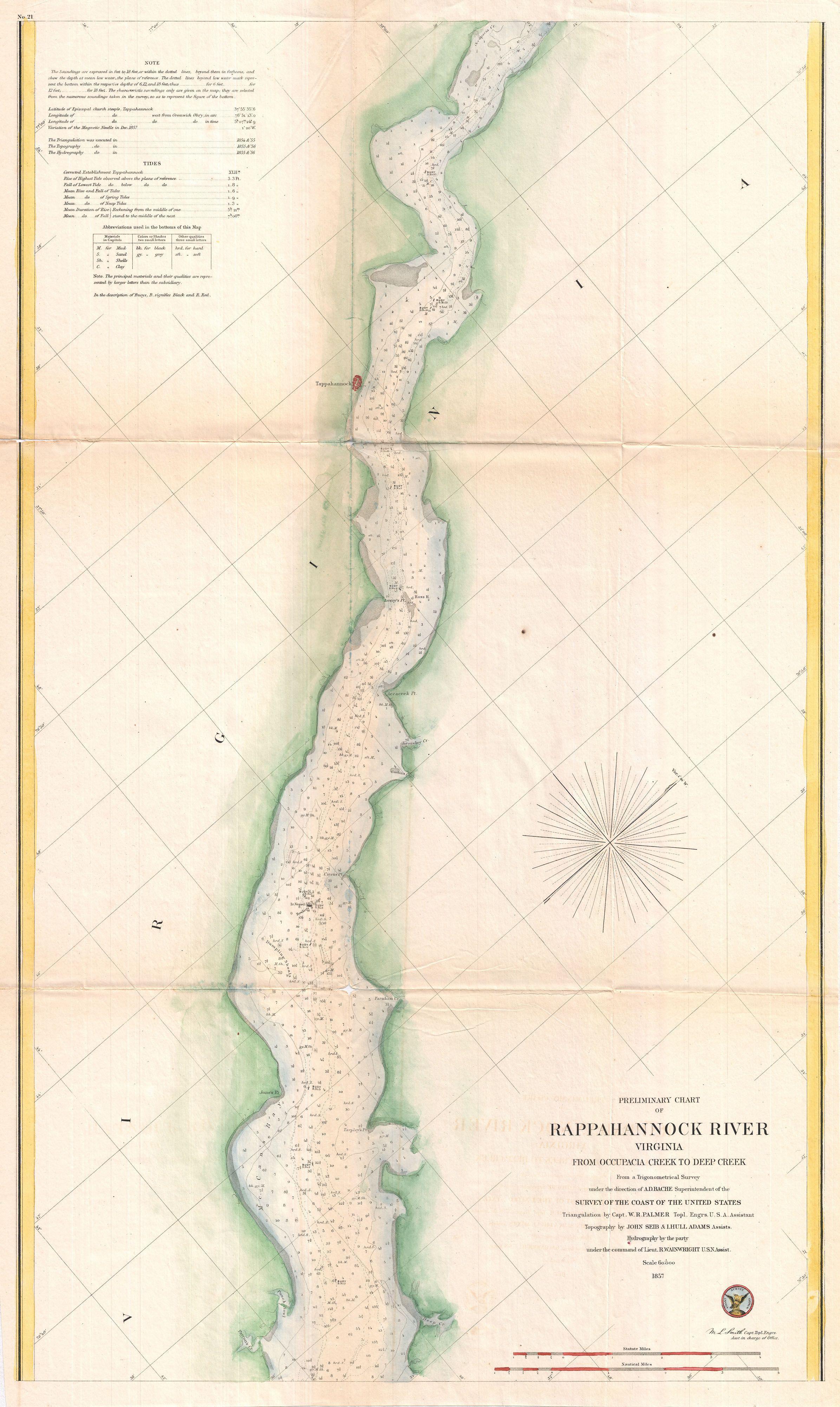 File 1857 U S Coast Survey Map Or Chart Of The Rappahannock River Virginia Geographicus Rappahannockriver Uscs 1857 Jpg Wikimedia Commons