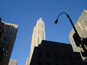 30 Rockefeller Center, also known as the GE Building, is the world headquarters of NBC. 30rockefellerCenter-NYC.jpg