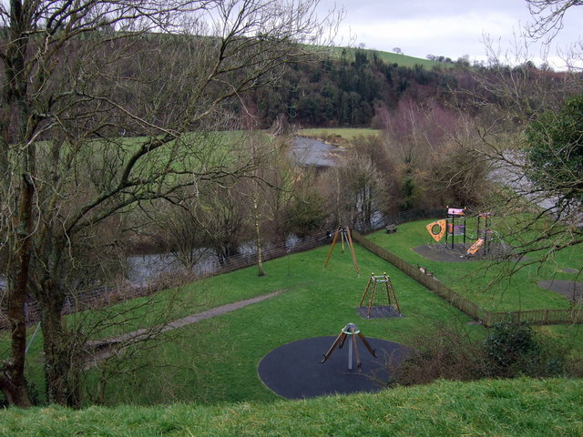 Afon Bran at Llandovery - geograph.org.uk - 1217636