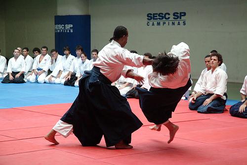 Démonstration d'aïkido