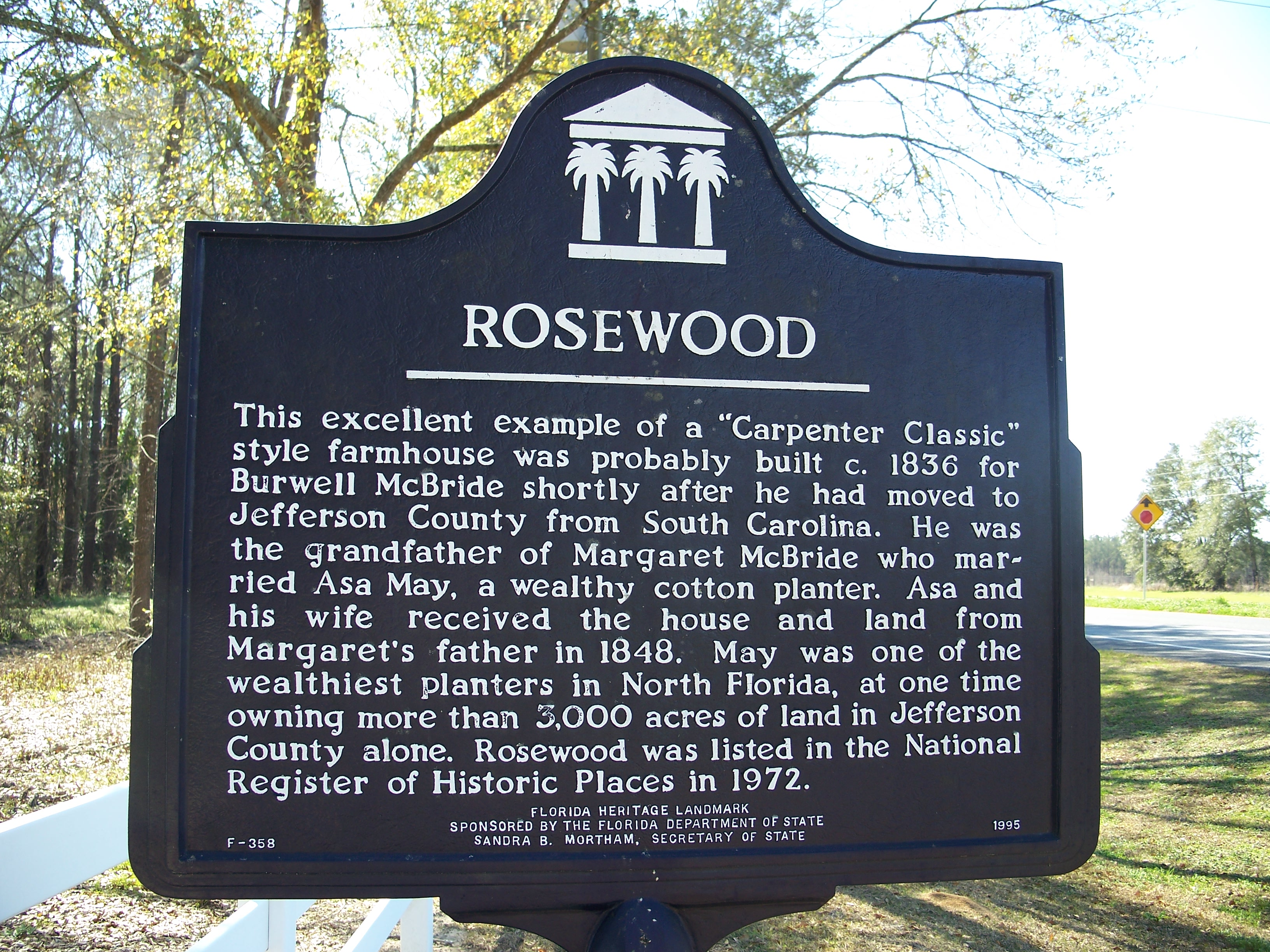 File Rosewood Florida Rc12409 Jpg: File:Asa May House Capps Marker.jpg