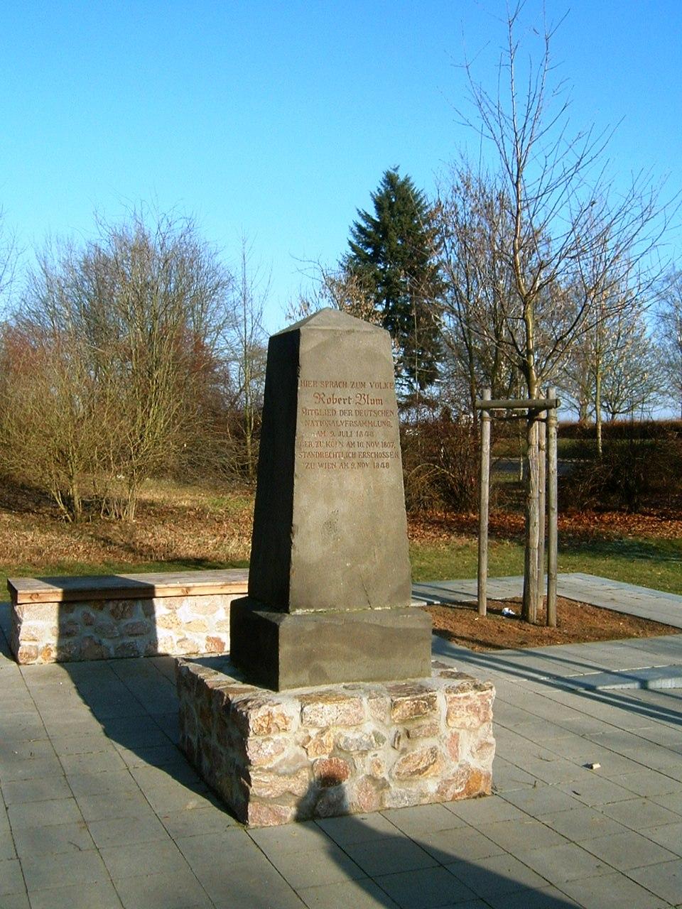 Robert-Blum-Denkmal – Wikipedia