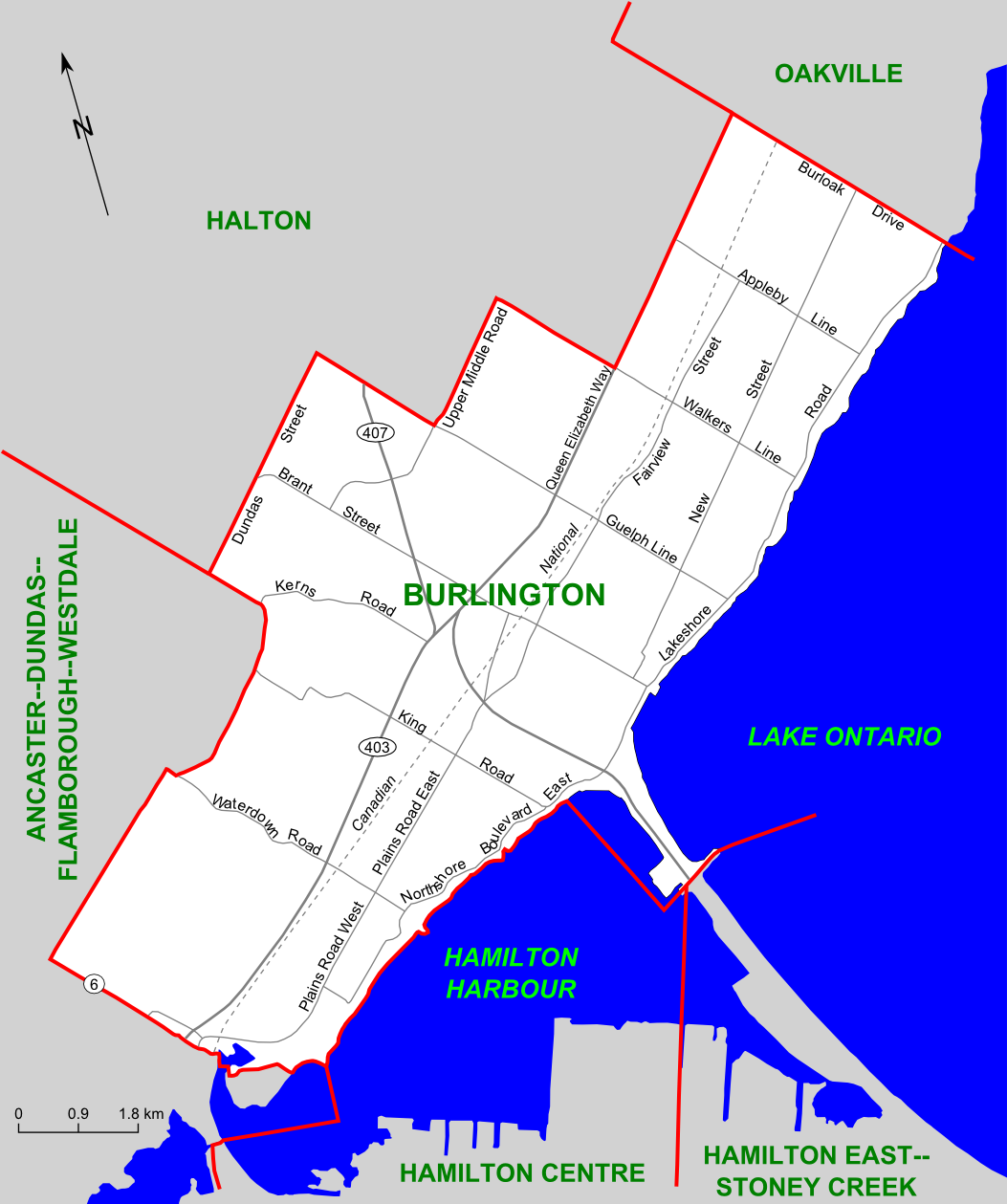 FileBurlington Riding Mappng Wikimedia Commons - Burlington map