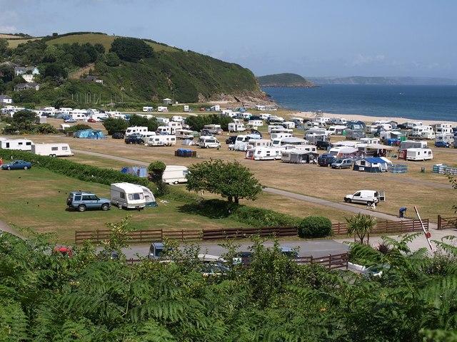 Caravan and camping park, Pentewan - geograph.org.uk - 1389545