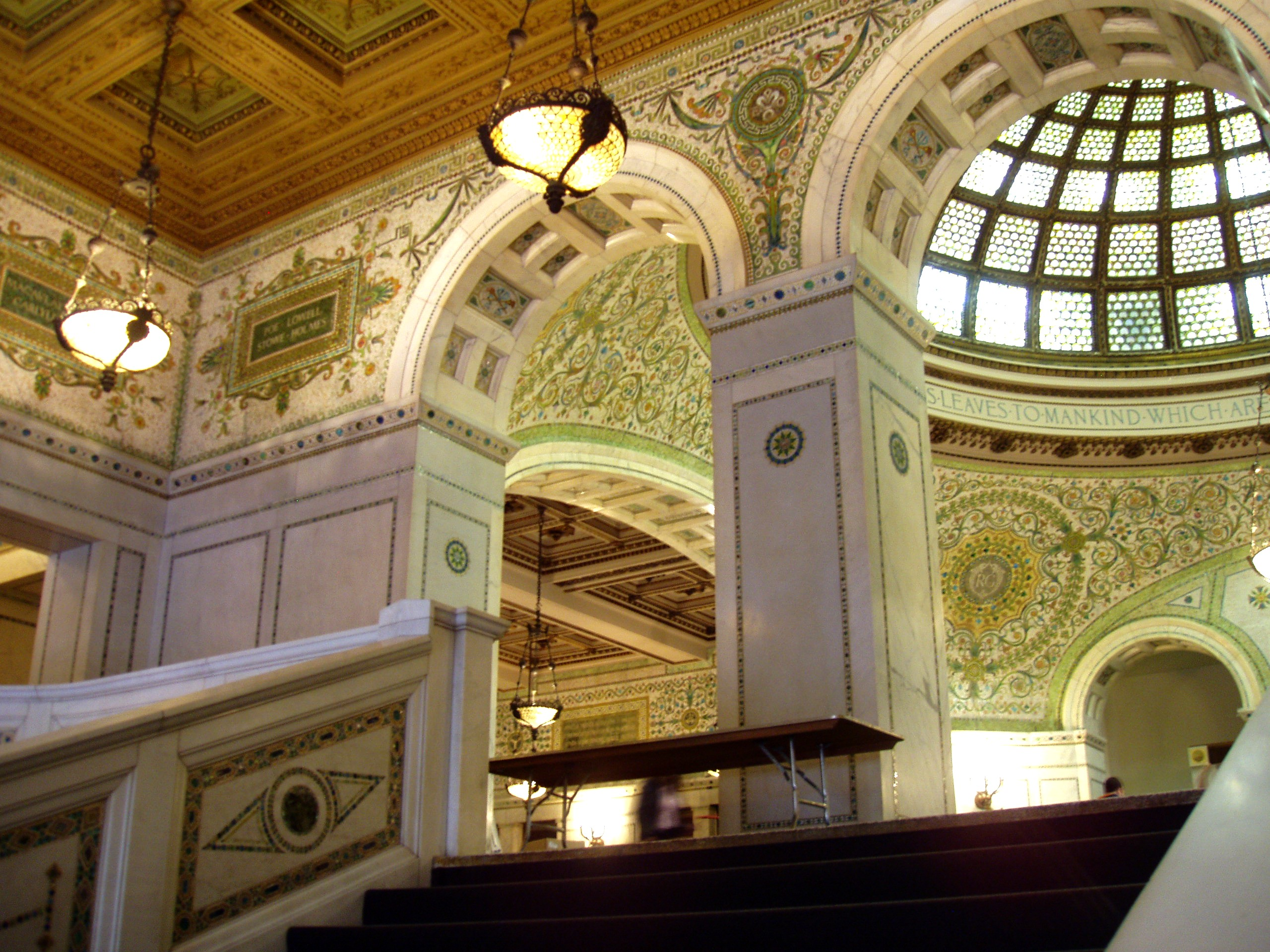 Fichier:Chicago Cultural Center - Grand Staircase and Preston ...