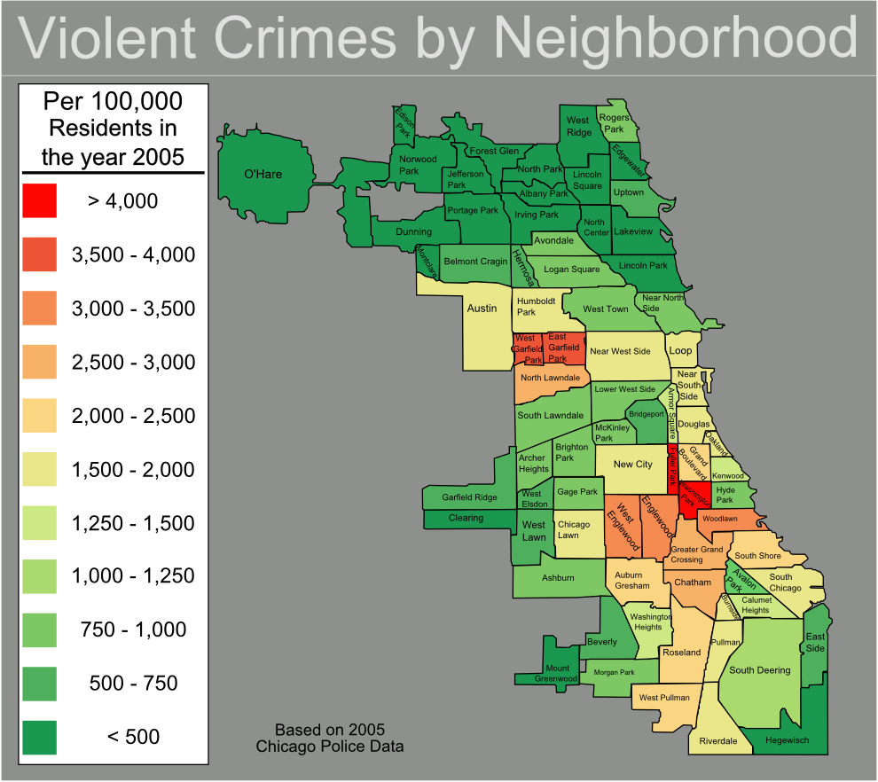 Chicago Killings Map