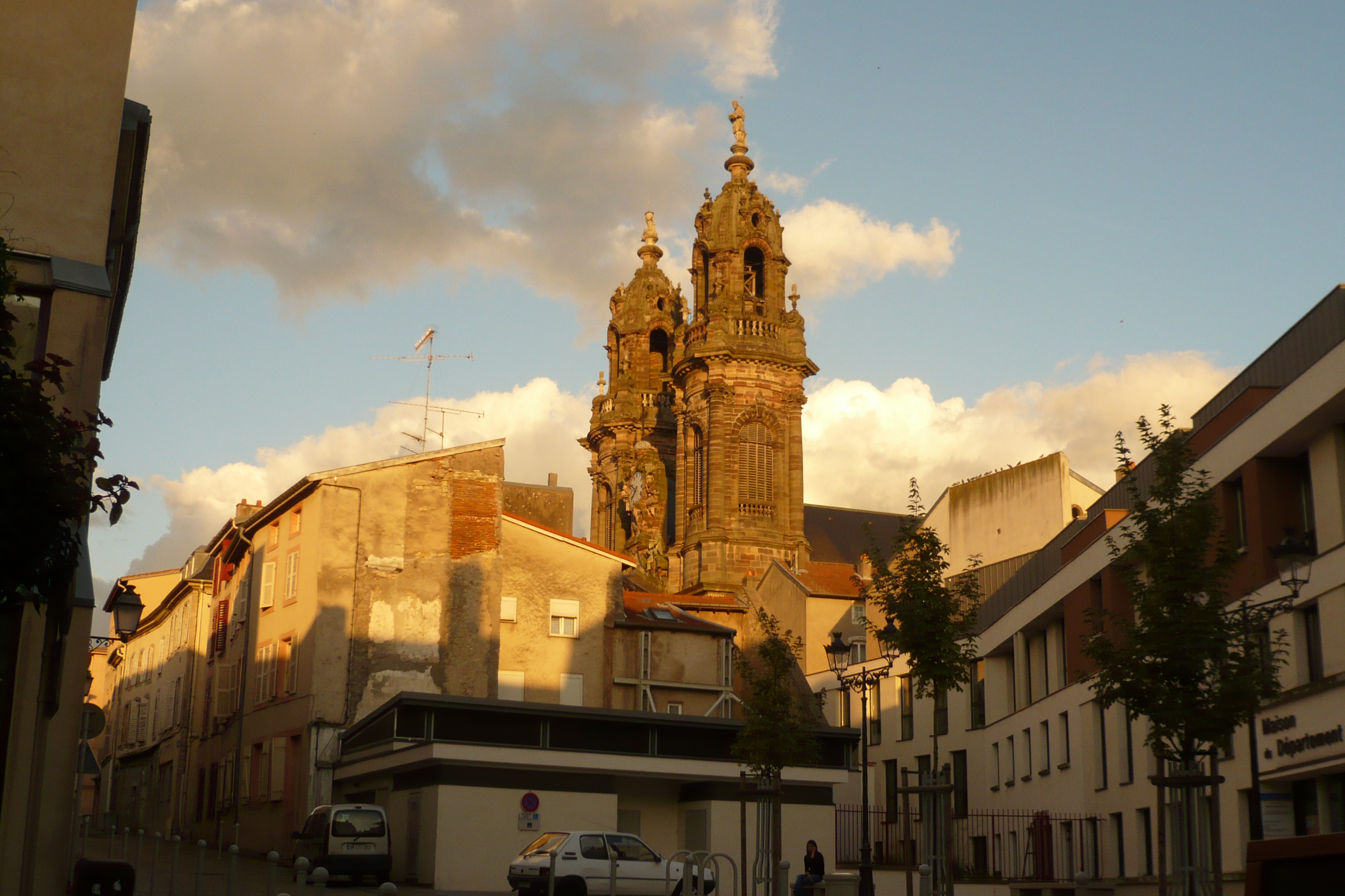 Luneville France  city photos : Church of Saint Jacques in Luneville France seen from Rue de la ...