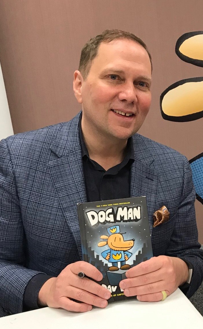 Pilkey at a book event in 2018