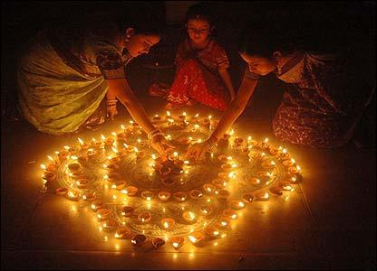The festival of lights, Diwali, is celebrated by Hindus all over the world. Deepawali-festival.jpg