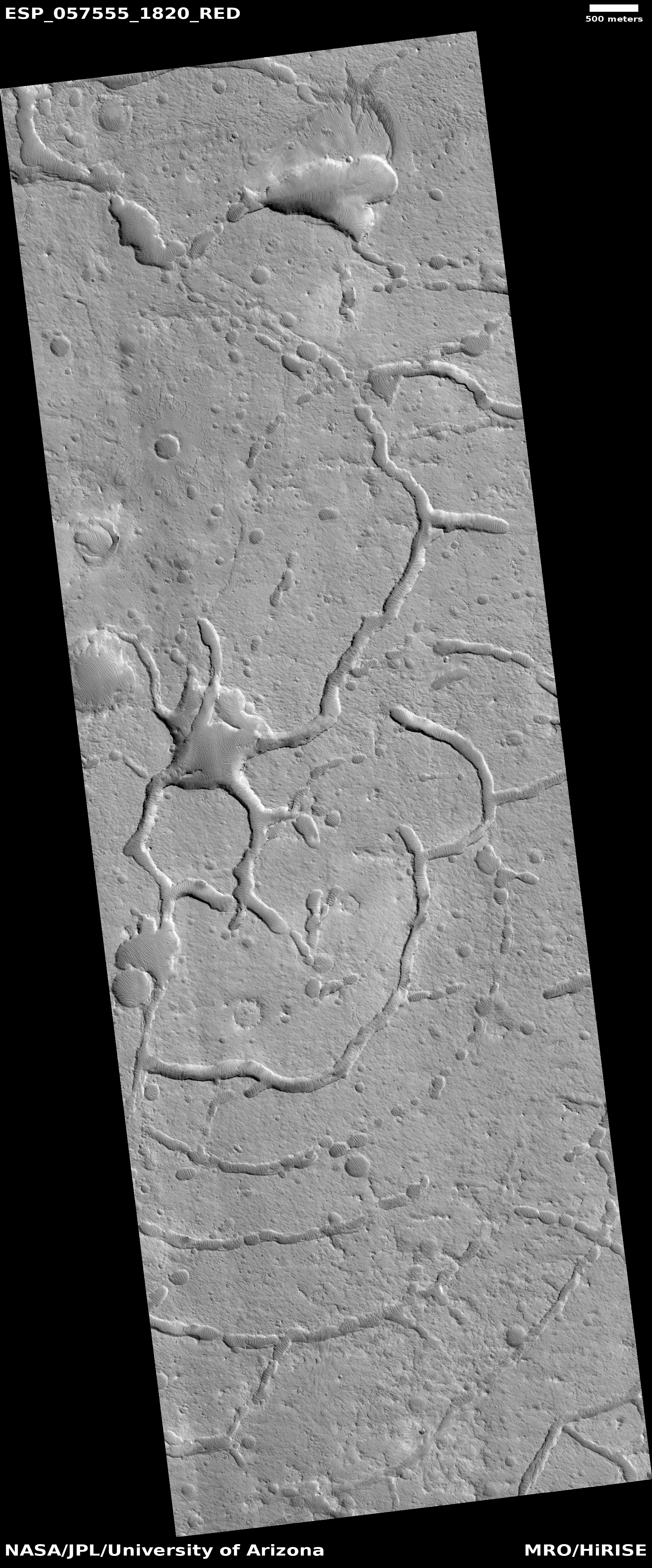 Concentric troughs, as seen by HiRISE under the HiWish program