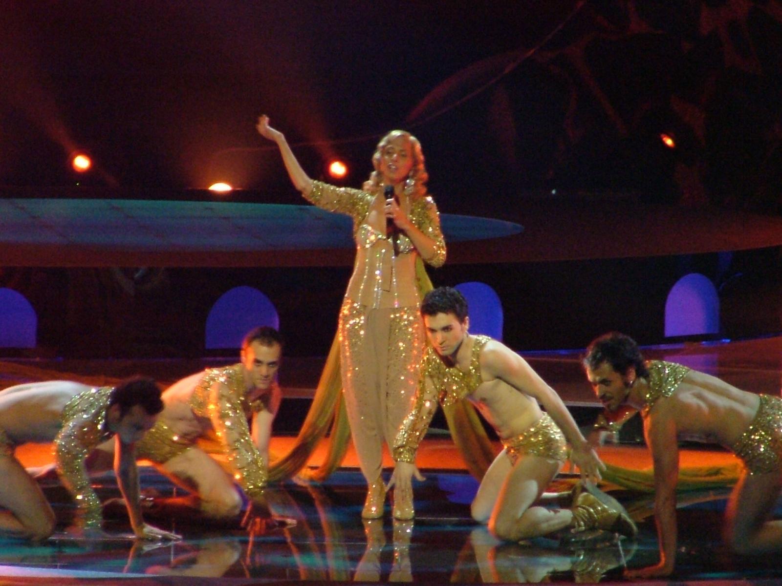 Image of Eurovision Opening Ceremony, 2004, Sertab Erener performing