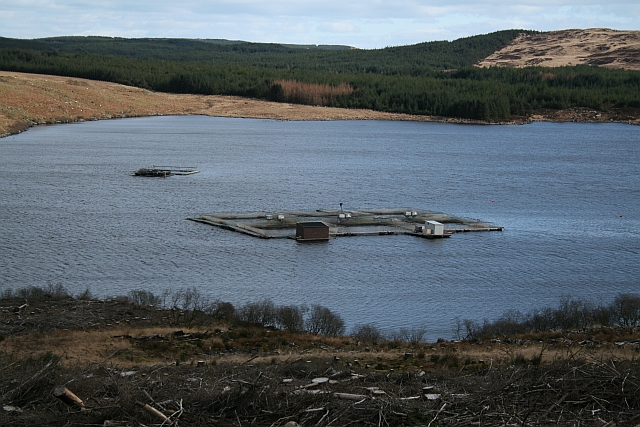 Fish Farm on Loch Garasdale - geograph.org.uk - 733733