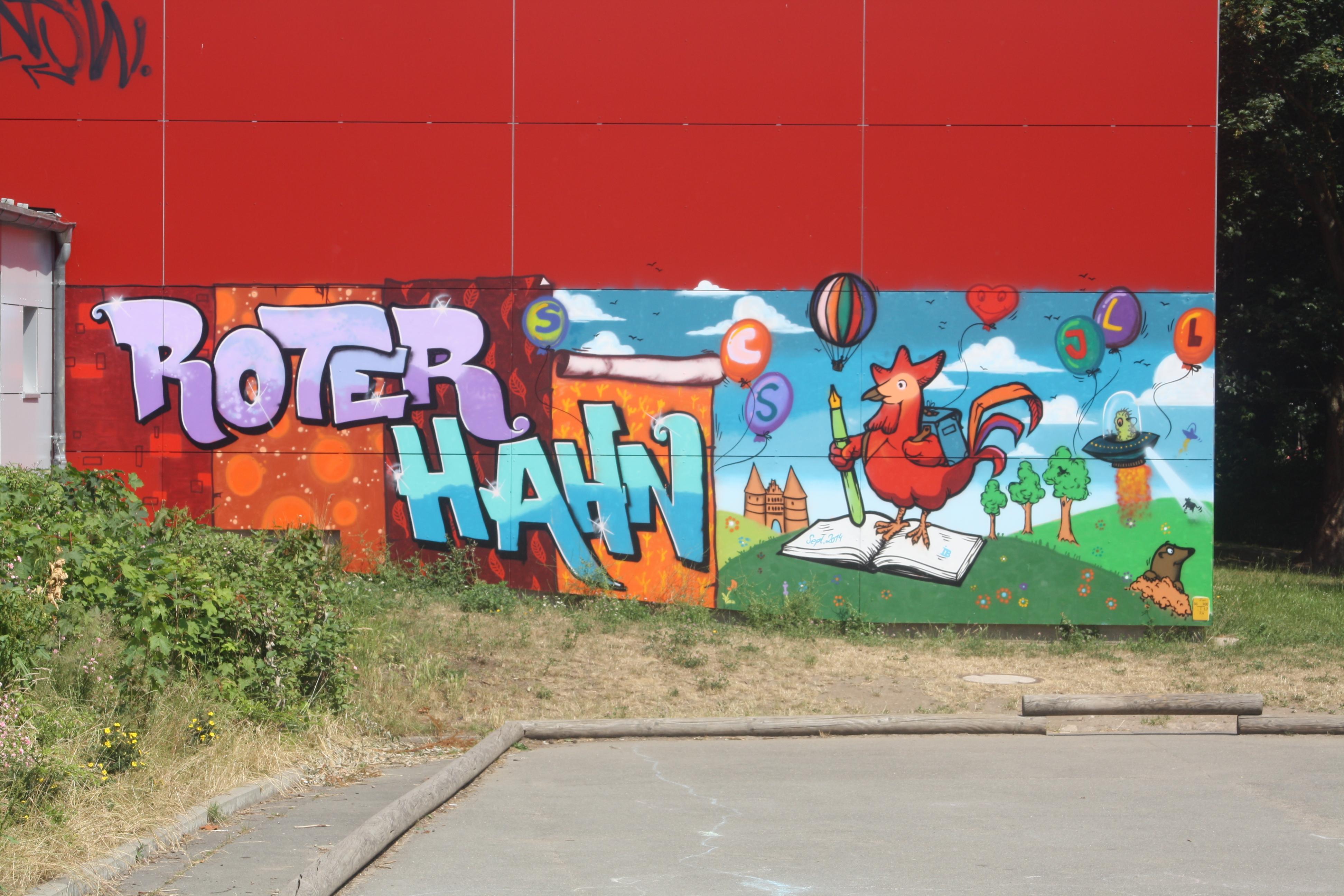 Roter Hahn Kunst grundschule roter hahn