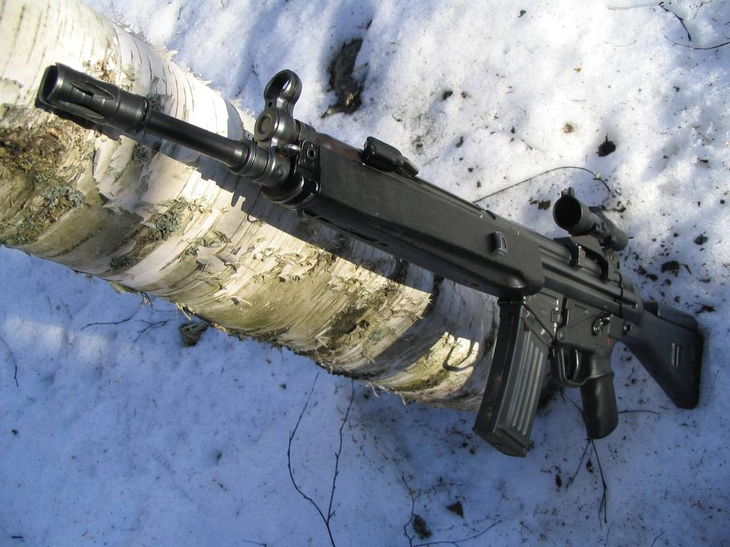H&K 33A2 with Trijicon Compact Acog