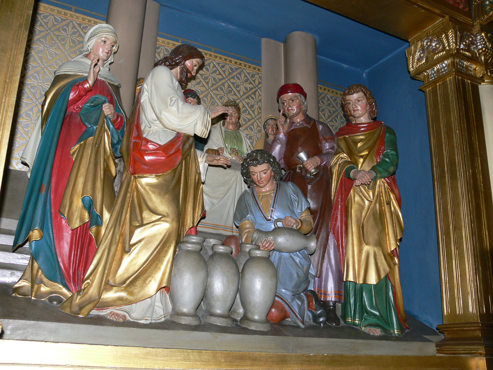 File:Hundersingen St Martin Hochaltar Hochzeit zu Kana Detail.jpg