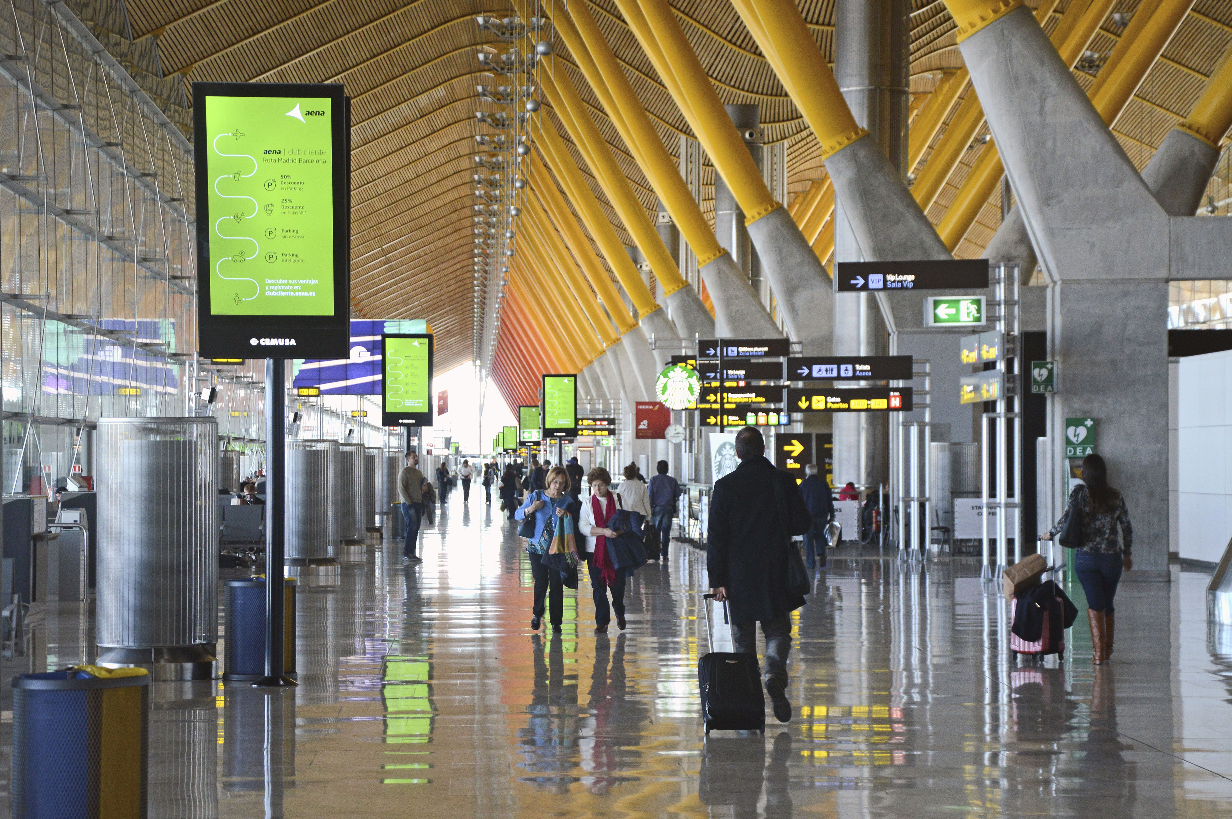 Схема аэропорта мадрида терминал 2