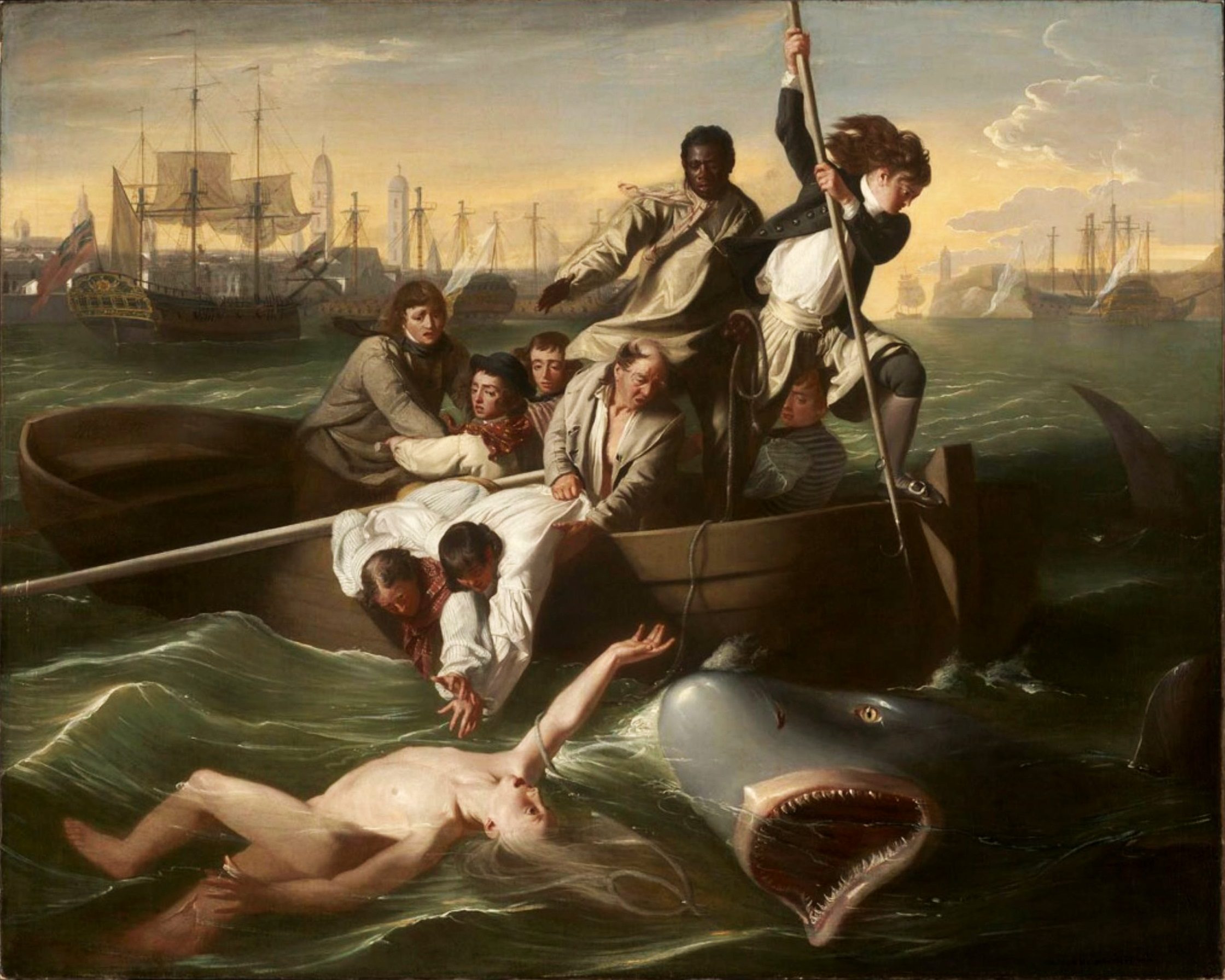 the struggle in watson and the shark a painting by john copley Artists such as john singleton copley john singleton copley watson and the shark made the piece a work of art in its own right watson and the shark.