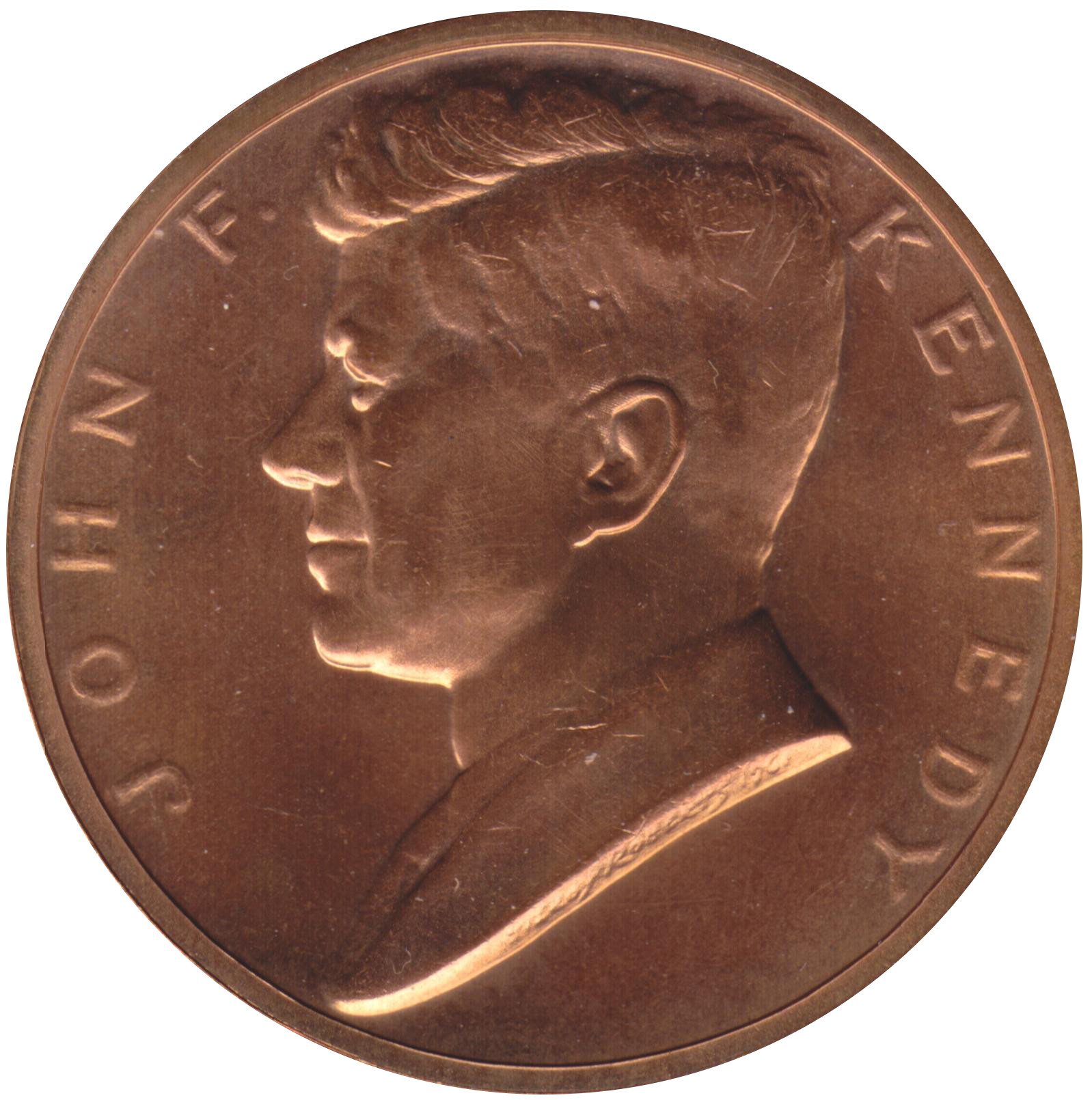 Obverse of Kennedy medal