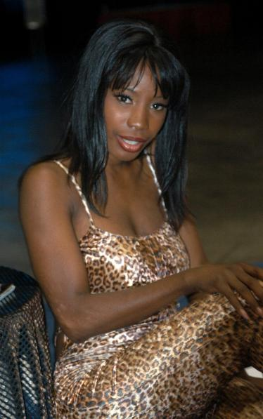 English Porn star Lady Armani at the Erotica Los Angeles 2005 convention
