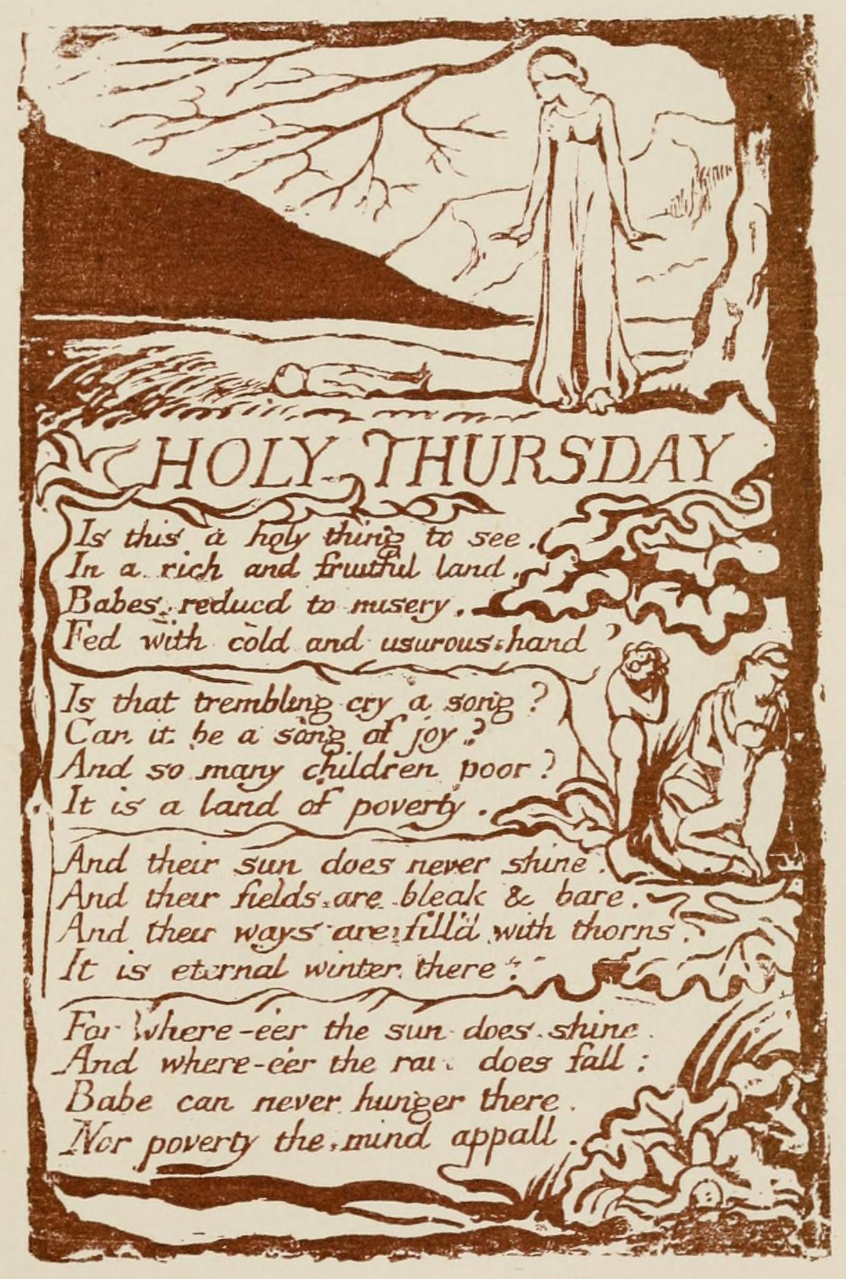 "Holy Thursday"" (Experience) — William Blake – Biblioklept"