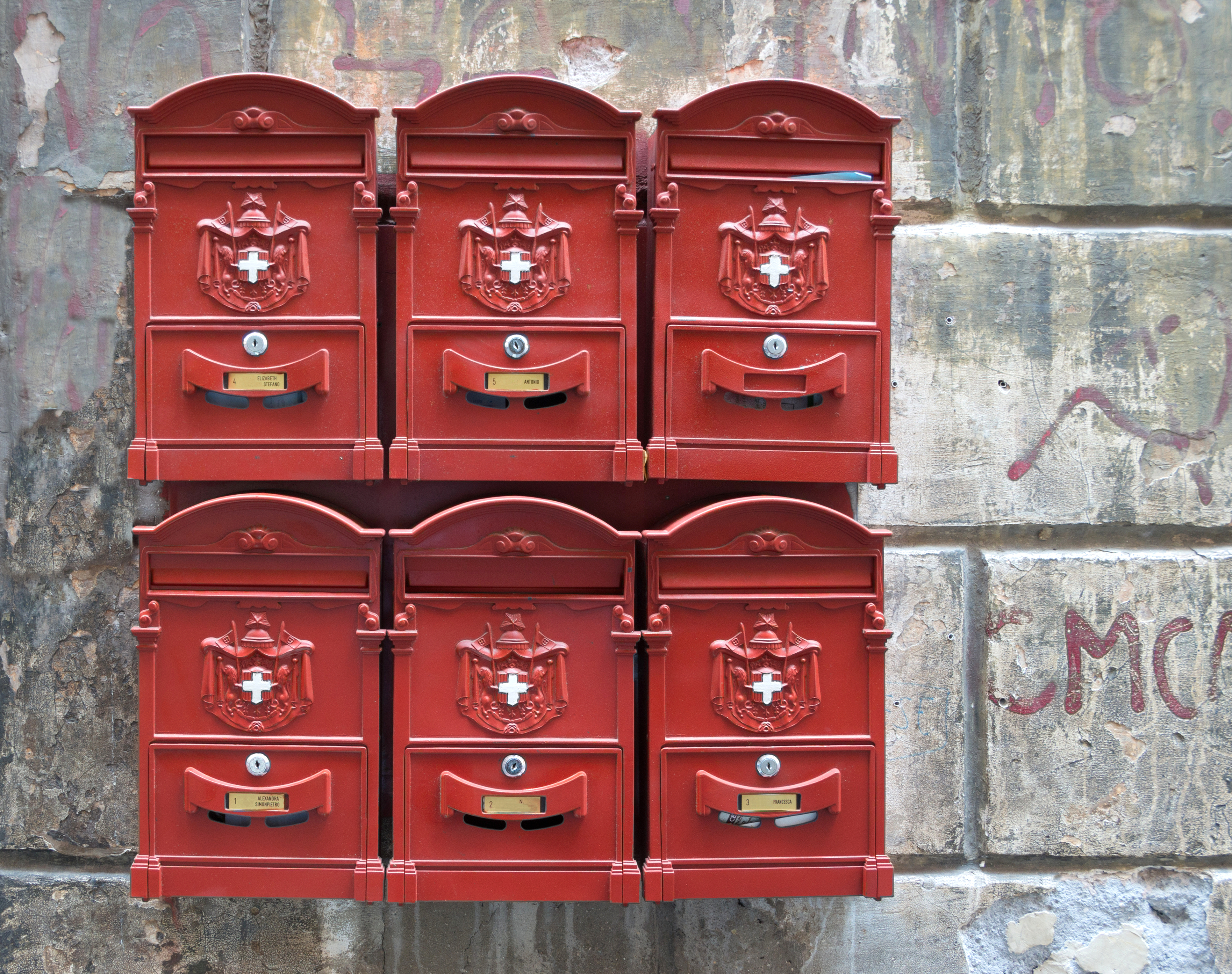 Mail Boxes, Rome, Italy