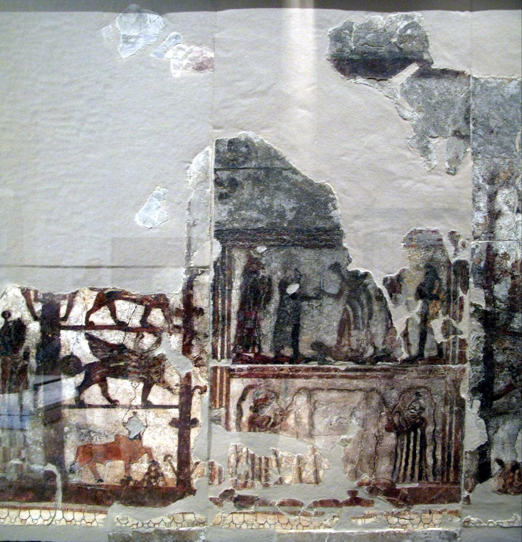 File mari fresco investiture zimri lim wikipedia for Best mural paint