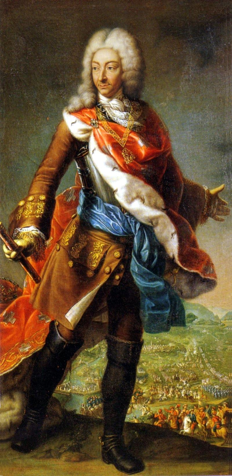 Maria Giovanna Battista Clementi, La Clementina, Portrait of Victor Amadeus II of Savoy, during the siege of Turin (1706), Reggia di Venaria (from Castle of Racconigi).jpg