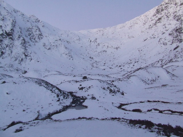 Meanders in Corrie Fee - geograph.org.uk - 656216