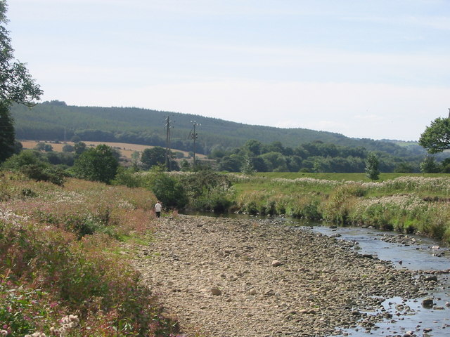 Mouth of Devils Water as it reaches River Tyne - geograph.org.uk - 248427