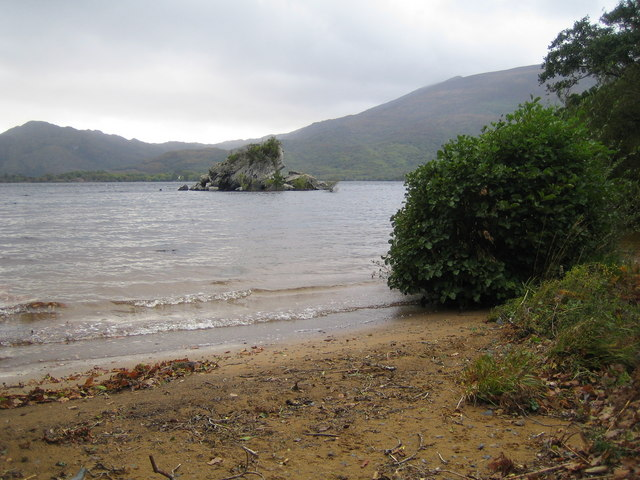 Muckross Lake, The Colleen Bawn Rock - geograph.org.uk - 260290