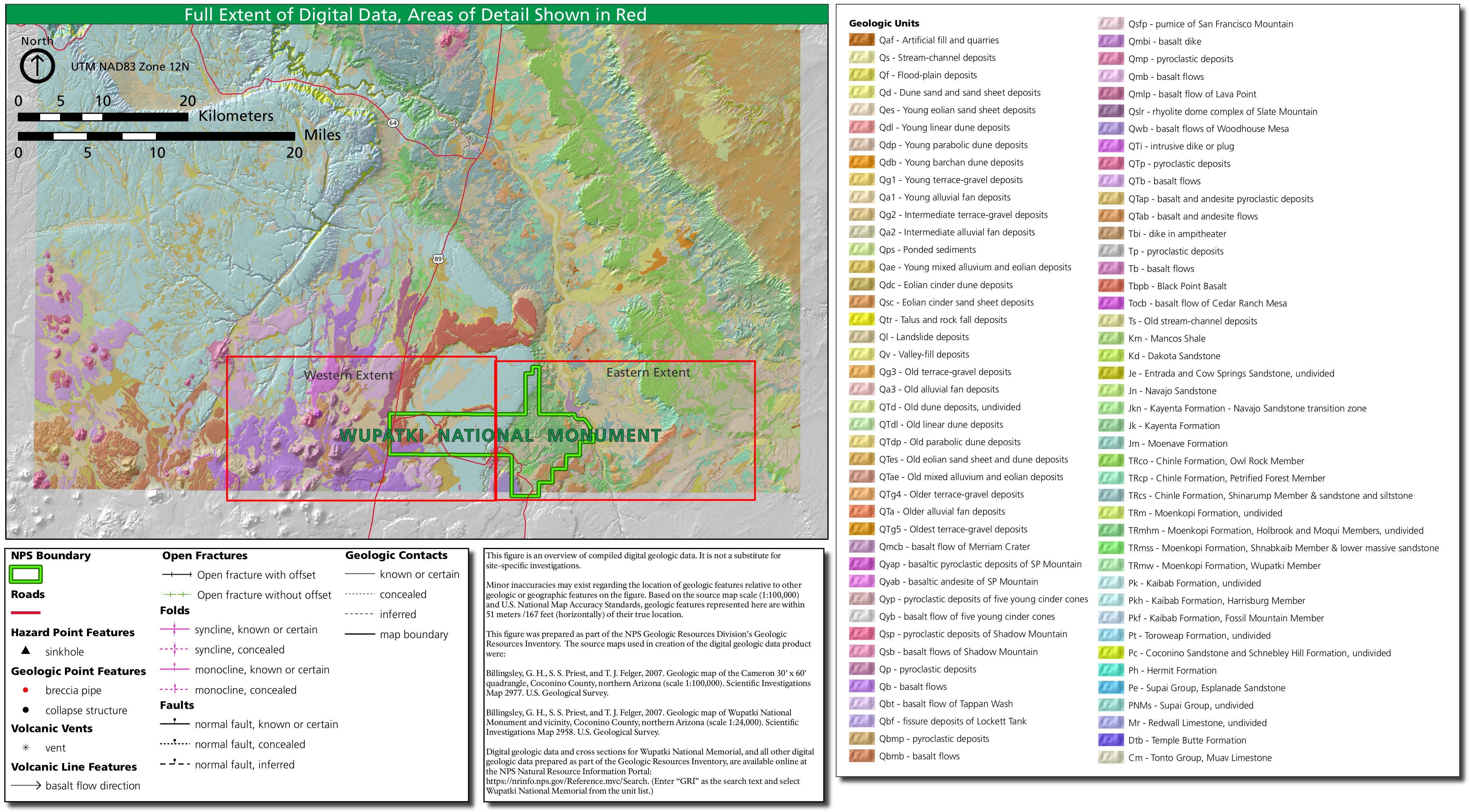 Geologic Map Of Arizona.File Nps Wupatki Geologic Map Overview Jpg Wikimedia Commons