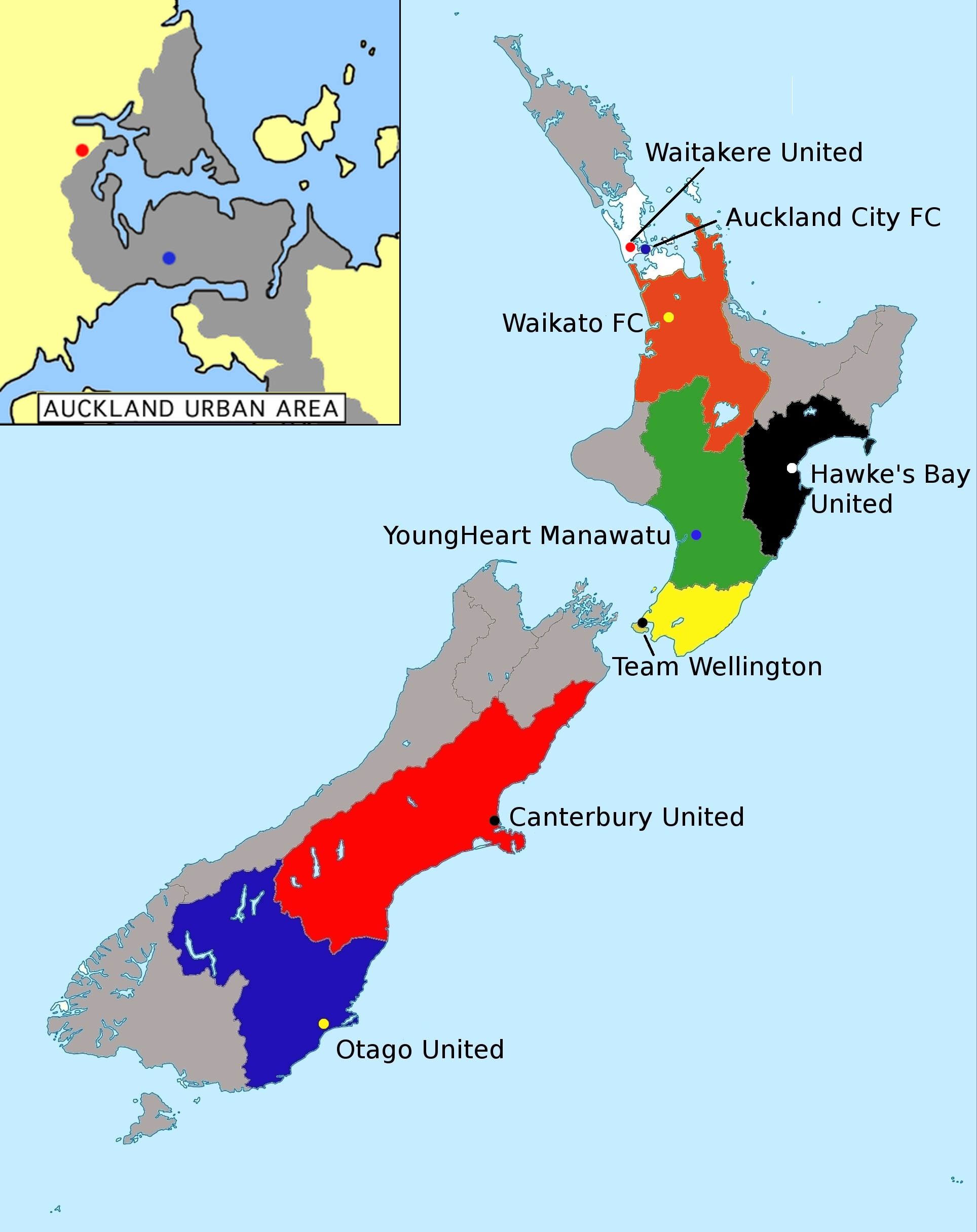 Where Is New Zealand Located In The World Map.File New Zealand Football Championship Location Map Jpg Wikimedia