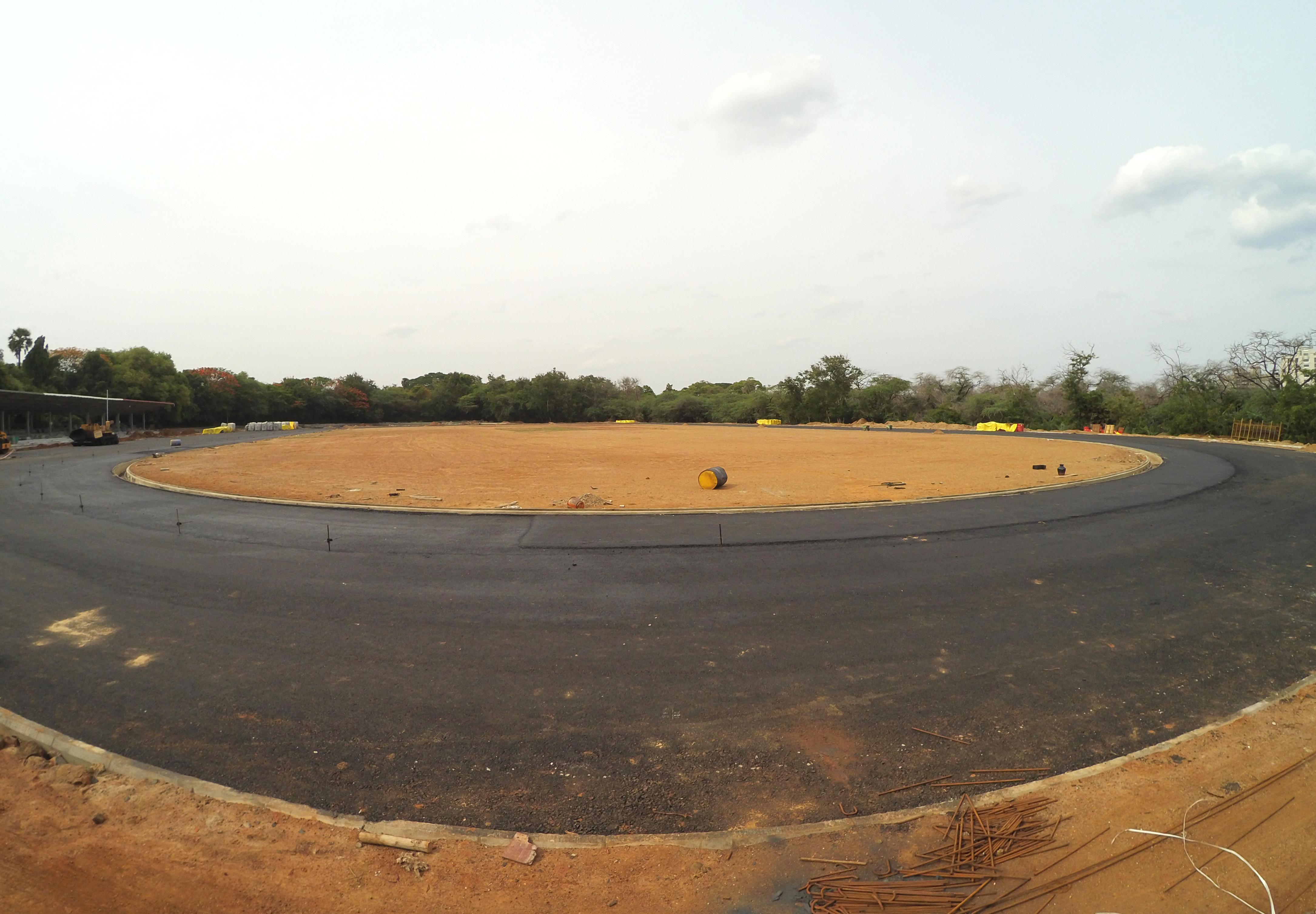 IIT Madras Wikipedia: File:Newly Constructing Syntethic Athletics Track, IIT