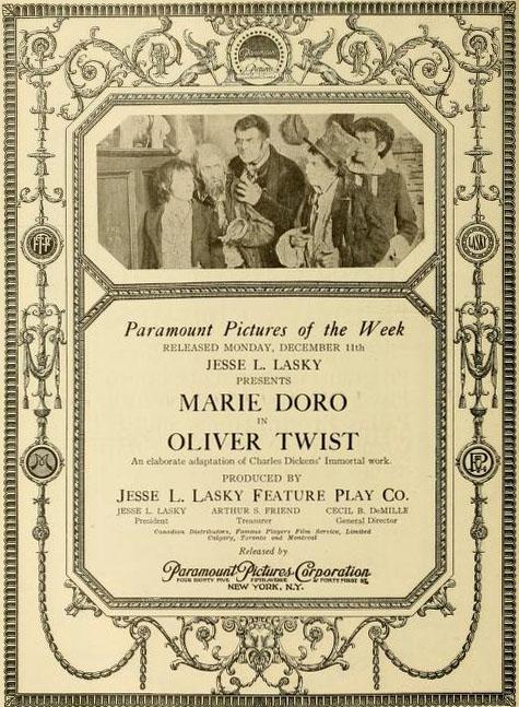 Oliviero Twist  Film 1916