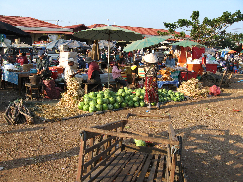 Pakse Laos  city photos gallery : Pakse market Wikimedia Commons