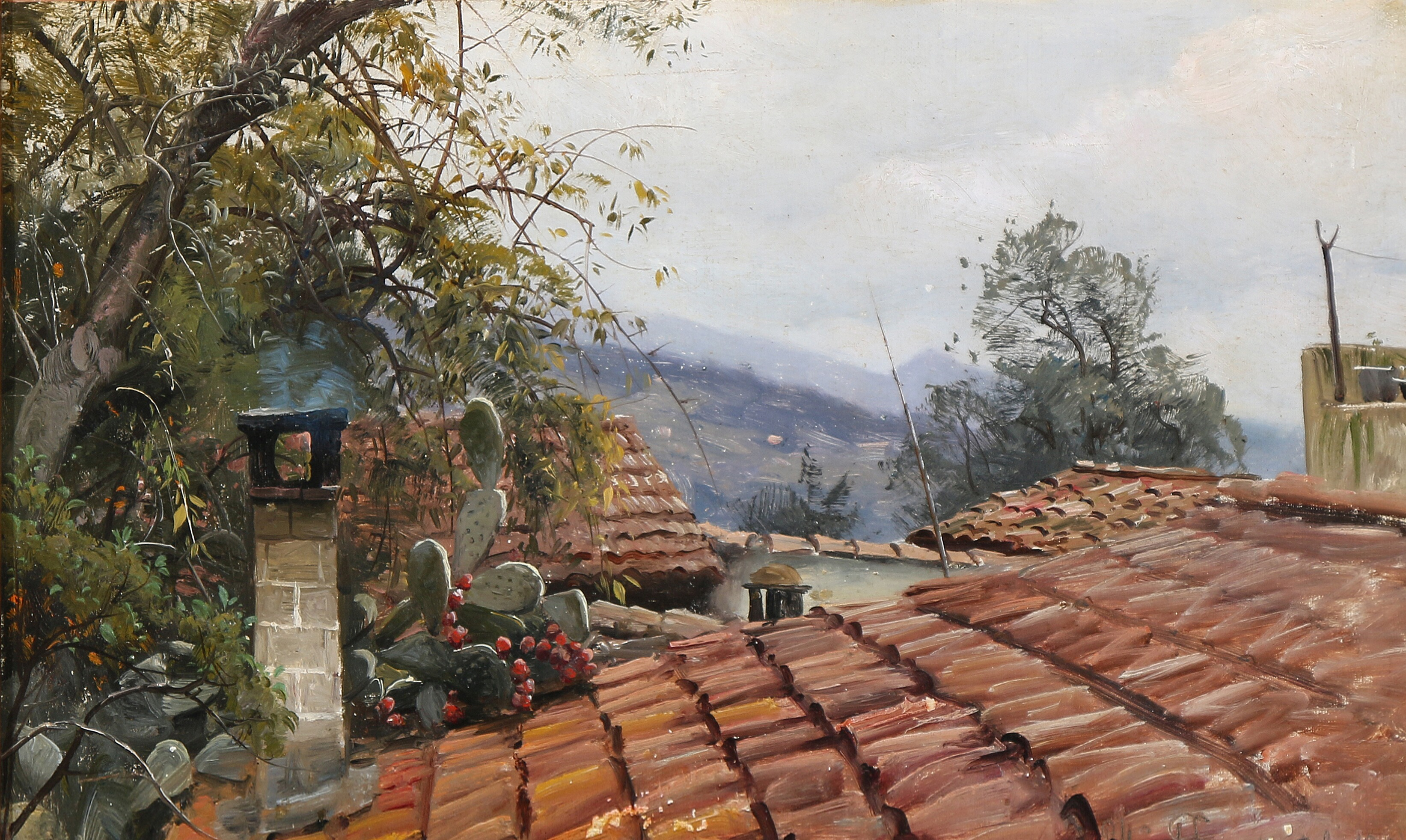 Peder Mørk Mønsted, A cactus growing on the old rooftops in Italy