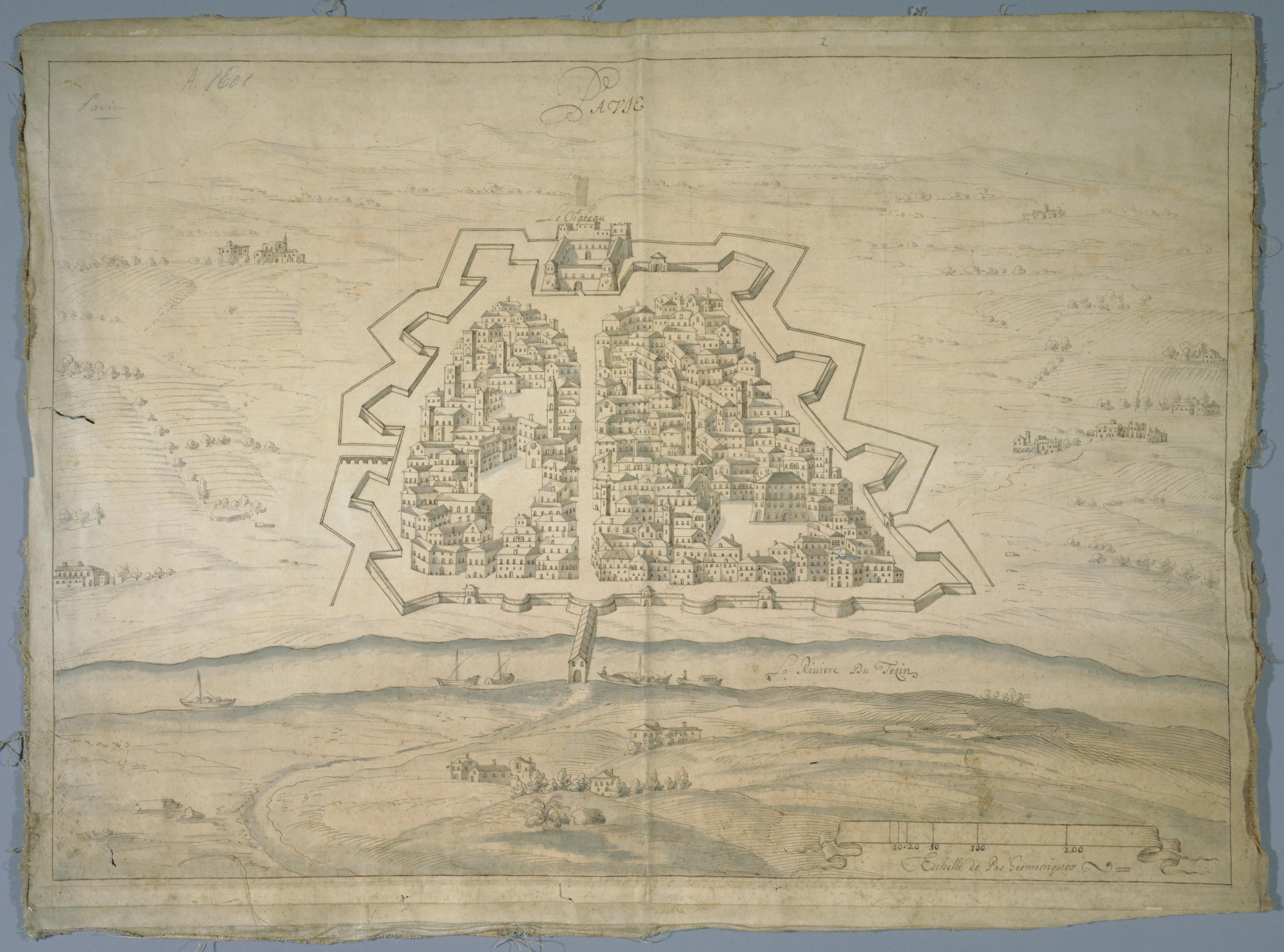 plan de la ville et des fortifications de pavie, xviie siècle.jpg
